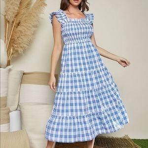 shein gingham nap dress